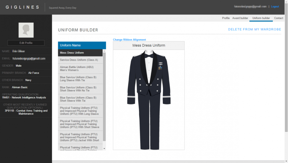 Build A Uniform in Real Time